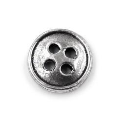 Silver Round Button