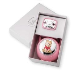 Set Box e Spilla Porta Ciuccio Winnie The Pooh Rosa
