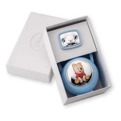 Set Box e Spilla Porta Ciuccio Winnie The Pooh Azzurro