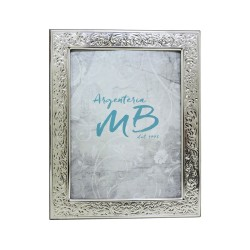 Silver Picture Frame Glossy Flowers cm 13x18