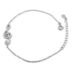G Clef 925 Sterling Silver Bracelet