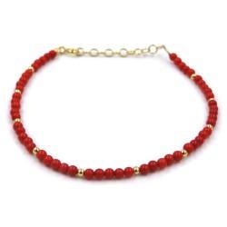 Red Coral Balls Bracelet