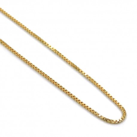 Gold Plated 925 Sterling Silver Venetian Chain Necklace