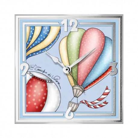 Hot Air Balloons Table Clock