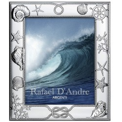 Silver Picture Frame Sea Theme 8 x 10
