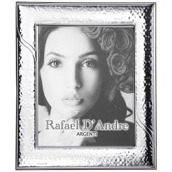 Silver Picture Frame Glossy Hammered Wake 8 x 10