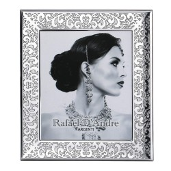 Silver Picture Frame Glossy Embroidery 5 x 7
