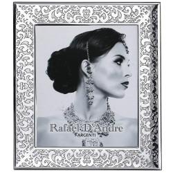 Cornice Portafoto in Argento Lucida Ricamo cm 20x25