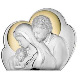 Quadro Sacro Capezzale Capoletto Sacra Famiglia Oro Nuvola