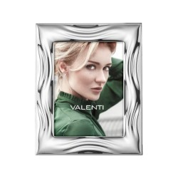 Picture Frame Glossy Waves by Valenti Argenti cm 9x13 in Silver
