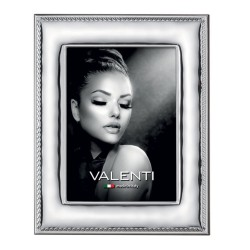Picture Frame Glossy Rope Edge by Valenti Argenti cm 13x18  in Silver