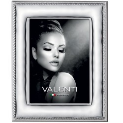 Silver Picture Frame Glossy Rope Edge 7 x 9