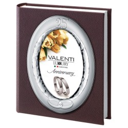 Photo Album 25th Anniversary with Oval Cover Frame 5 x 7