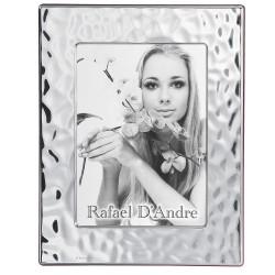 Cornice Portafoto in Argento Lucida Effetto Mare cm 20 x 25