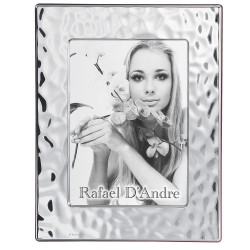 Silver Picture Frame Glossy Sea Effect 8 x 10''