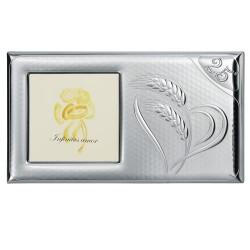 Silver Picture Frame Corn 25th Anniversary 4 x 4