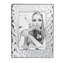 Cornice Portafoto in Argento Lucida Effetto Mare cm 13 x 18