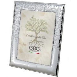 Silver Photo Frame 7 x 9 Tree of Life