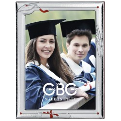 Graduation Enamelled Silver Photo Frame 7 x 9