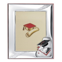 Graduation Enamelled Silver Picture Frame 5 x 7