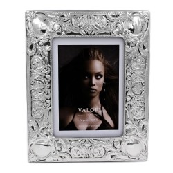925 Sterling Silver Photo Frame 5 x 7 Elisabeth Model Mahogany Back