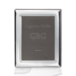 925 Sterling Silver Photo Frame 4 x 6 with Inner Bands