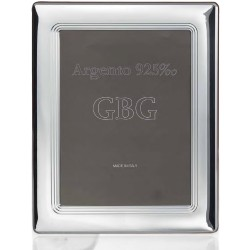 925 Sterling Silver Photo Frame with Internal Bands 7 x 9