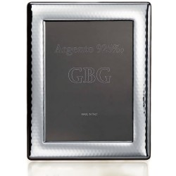 925 Sterling Silver Smooth Hammered Photo Frame 7 x 9