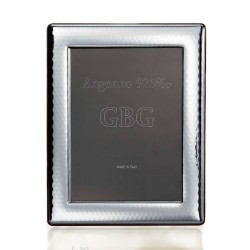 925 Sterling Silver Smooth Hammered Photo Frame 5 x 7