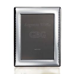 Cornice Portafoto in Argento Massiccio 925 Martellata Liscia cm 13x18