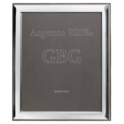 925 Sterling Silver Glossy Photo Frame 8 x 10 Cherry Wood Back