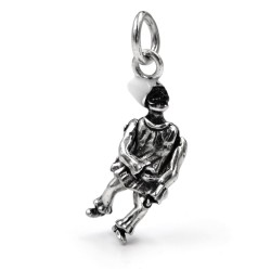 Sterling Silver Pulcinella Pendant