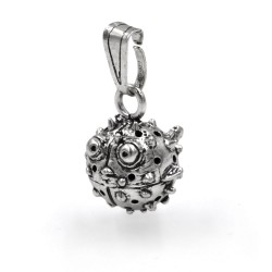 Sterling Silver Puffer Fish Pendant
