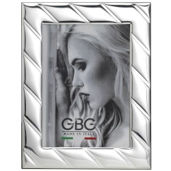 Cross Lines Silver Picture Frame 7 x 9