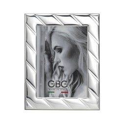 Cross Lines Silver Picture Frame 4 x 6