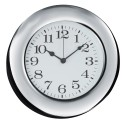 Round Wall Clock with Polished Silver Frame