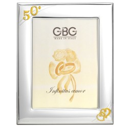 50th Anniversary Picture Frame 7 x 9 Intertwined Hearts