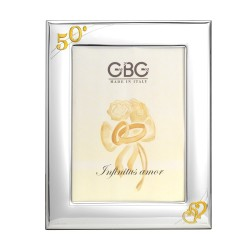 50th Anniversary Picture Frame 5 x 7 Intertwined Hearts