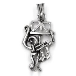 Ciondolo Leggio per Spartito con Note Musicali in argento