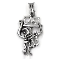 Music Stand Silver Pendant