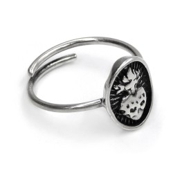 Sterling Silver Oval Holy Heart Ring