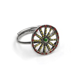 Sterling Silver Sicilian Cart Wheel Ring
