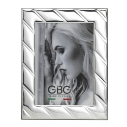 Cross Lines Silver Picture Frame 5 x 7