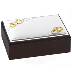 50th Anniversary Jewelry Box with PVD Silver Cover