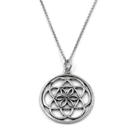 Flower of Life Sterling Silver Necklace