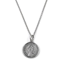 One Pound Sterling Silver Necklace