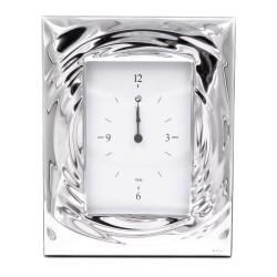 Drop Orologio da Tavolo con Funzione Sveglia in argento