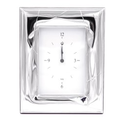 Mirò Silver Alarm Clock
