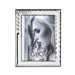 Silver Picture Frame Glossy Spiral Effect 3,5 x 5