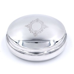 800 Sterling Silver Round Jewelry Box